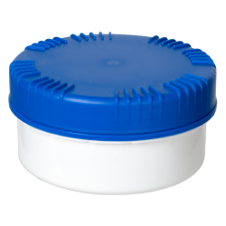 300mL HDPE UN Rated White Packo Jar with Blue Lid