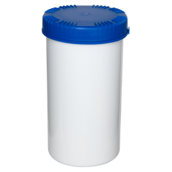1300mL HDPE UN Rated White Packo Jar with Blue Lid
