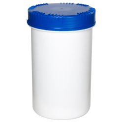 2000mL HDPE UN Rated White Packo Jar with Blue Lid