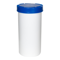 2500mL HDPE UN Rated White Packo Jar with Blue Lid