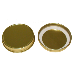 38/400 Gold Metal Cap with Plastisol Liner
