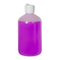 16 oz. LDPE Boston Round Bottle with 28/410 Flip-Top Cap