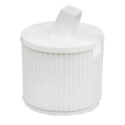 18/410 White Flip-Top Cap