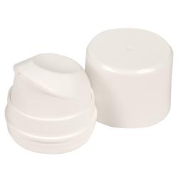 White Pearl Airless Dispenser Pump & Overcap