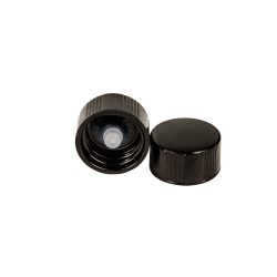 18/400 Black Phenolic Taperseal Cap with LDPE Liner