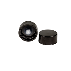 20/400 Black Phenolic Taperseal Cap with LDPE Liner