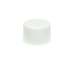 24/410 White Polypropylene Unlined Ribbed Cap
