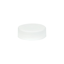 33/400 White Polypropylene Unlined Ribbed Cap