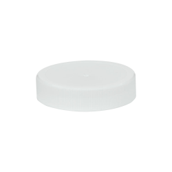 48/400 White Polypropylene Unlined Ribbed Cap