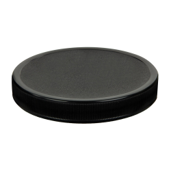 110/400 Black Polypropylene Unlined Ribbed Cap