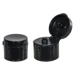 24/410 Black Smooth Snap-Top Cap with 0.187