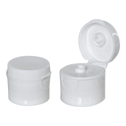 24/410 White Smooth Snap-Top Cap with .187