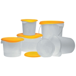 Rubbermaid® White or Semi-Clear Round Containers & Lids