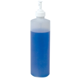 8 oz. Natural Cylinder Spray Bottle with 24/410 Finger Sprayer