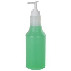 16 oz. Natural HDPE Bottle & Pump