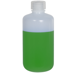 8 oz./250mL Nalgene™ Narrow Mouth Pass-Port IP2 HDPE Shipping Bottle with 24mm Cap
