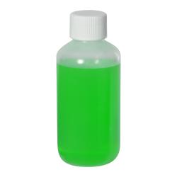 4 oz. LDPE Boston Round Bottle with 24/410 Plain Cap