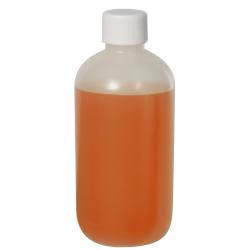 8 oz. LDPE Boston Round Bottle with 24/410 Plain Cap