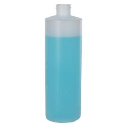 12 oz. Natural Cylinder Bottle with 24/410 Neck (Cap Sold Separately)
