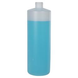 32 oz. Natural Cylinder Bottle with 28/410 Neck (Sprayer or Cap Sold Separately)