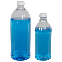 PET Clear Round Bottles with Caps