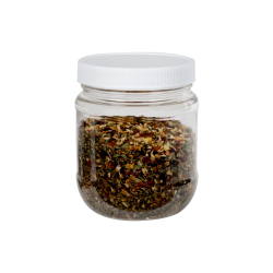 12 oz. Clear PET Jar with 70/400 Cap with F217 Liner