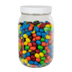 64 oz. Clear PET Jar with 100/400 Cap with F217 Liner