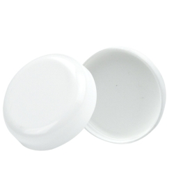 89/400 White Polypropylene Dome Cap with F217 Liner
