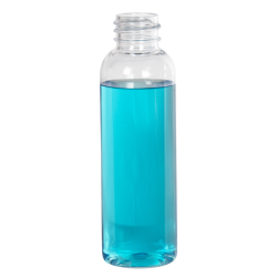 2 oz. Cosmo High Clarity PET Round Bottle with 20/410 Neck (Cap Sold Separately)
