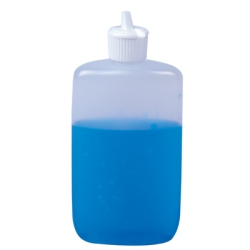 LDPE Oval Bottles with Flip Top Dispensing Caps