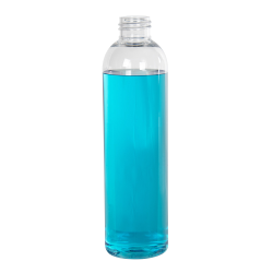 8 oz. Cosmo High Clarity Round Bottle with 24/410 Neck (Cap Sold Separately)