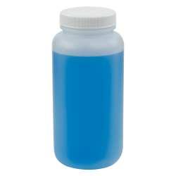16.6 oz. Wide Mouth Round HDPE Jars with 53/400 Cap