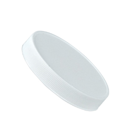 110/400 White Polypropylene Ribbed Cap with F217 Liner