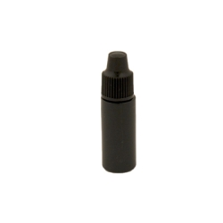 3cc Black Cylinder Bottle with 8mm Dropper Cap