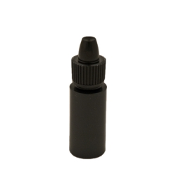 6cc Black Cylinder Bottle with 13mm Dropper Cap