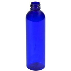8 oz. Cobalt Blue PET Cosmo Bottle with 24/410 Neck (Cap Sold Separately)