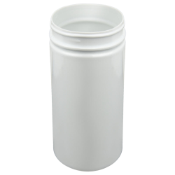 32 oz. White PET Straight Sided Jar with 89/400 Neck (Cap Sold Separately)