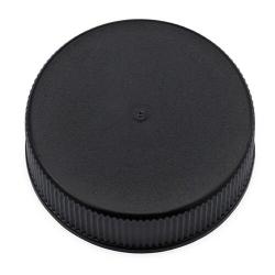 33/400 Black Polypropylene Cap with Pressure Sensitive Liner