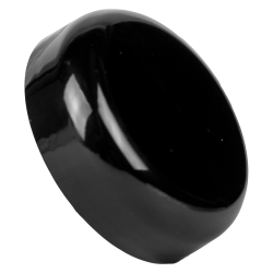 89/400 Black Polypropylene Dome Cap