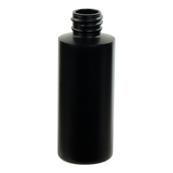 2 oz. Black HDPE Cylindrical Sample Bottle with 20/410 Neck (Cap Sold Separately)