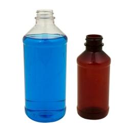 8 oz. Modern Round Clear PET Bottle with 24/400 Plain Cap