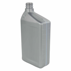 32 oz. Silver HDPE Oil Bottle with 28mm Neck (Cap Sold Separately)