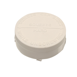 63mm Squeeze Lock CRC White Unlined Cap