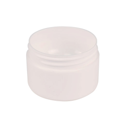 8 oz. White Frosted Polypropylene Double Wall Jar with 89mm Neck (Cap Sold Separately)
