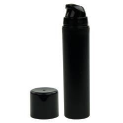 50mL Black Mini Airless Dispenser with Cap