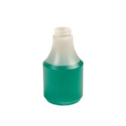 8 oz. HDPE Delta Round Spray Bottle with 28/400 Neck (Sprayer Sold Separately)