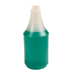 24 oz. HDPE Delta Round Spray Bottle with 28/400 Neck (Sprayer Sold Separately)