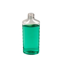 8 oz. Clear PET EZ Grip Oval Bottle with 24/410 Neck  (Cap Sold Separately)