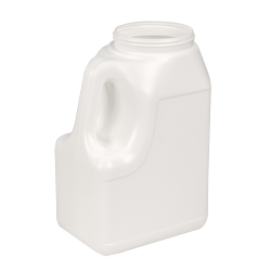 164 oz. White Multi-Use HDPE Container with Handle & 110/400 Neck  (Cap Sold Separately)