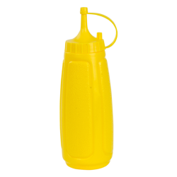 13 oz. Yellow Squeezable Dispenser with Yellow Dispensing Cap